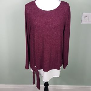 Simply Vera Vera Wang Twofer Sweater